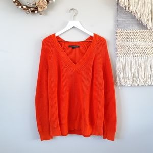 ROCKY BARNES x 360 CASHMERE   Chunky Knit Sweater